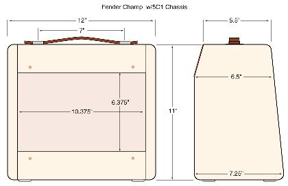 Fender Tweed Champ Wide Panel 5c1 Or Smaller 5e1 Narrow